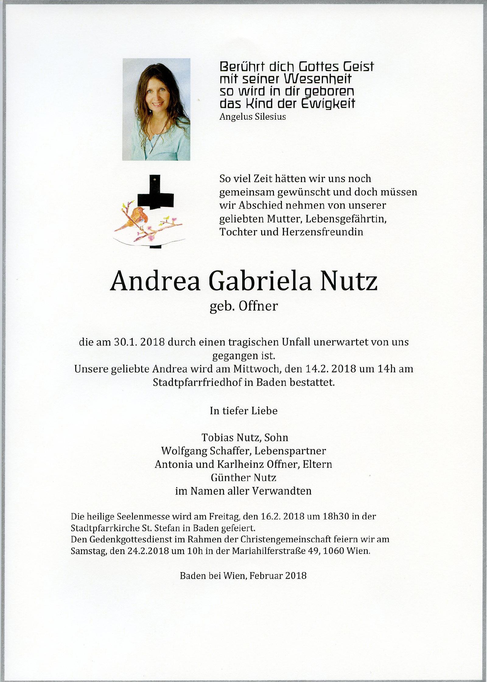 Frau Andrea Nutz